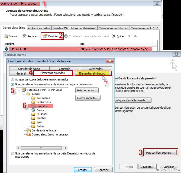 Outlook - IMAP: La carpeta elementos enviados no está disponible (2/4)