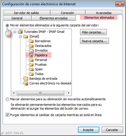 Outlook - IMAP: La carpeta elementos enviados no está disponible (3/4)
