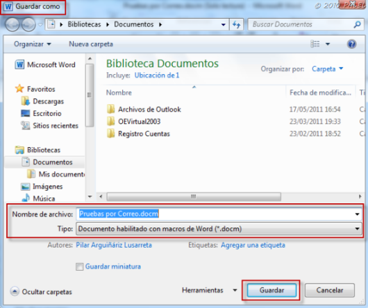 Office/Outlook: Modificar y Guardar documentos adjuntos a un mensaje ...