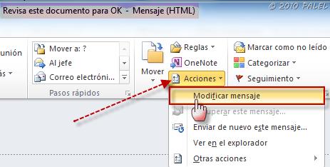 Office/Outlook: Modificar y Guardar documentos adjuntos a un mensaje de correo (6/6)