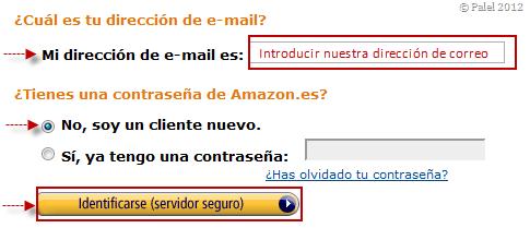 Crear una cuenta Amazon