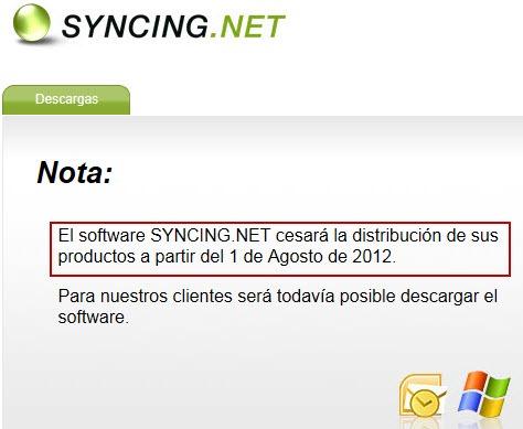 SYNCING.NET cesa su distribución