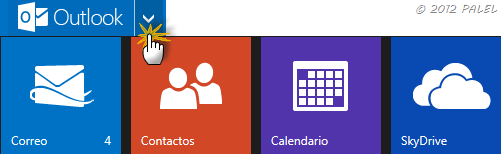 Paneles disponibles en Outlook.com