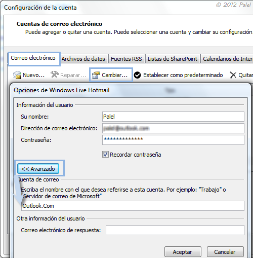 Outlook 2010: cambiar el nombre de la carpeta principal