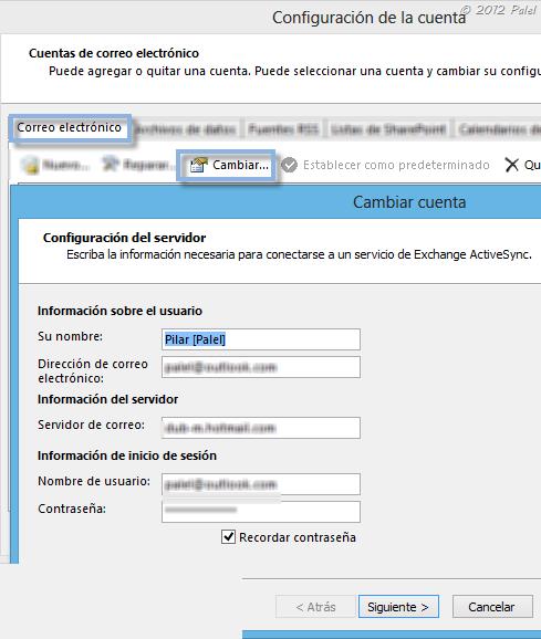 Outlook 2013: Configuración de una cuenta outlook.com