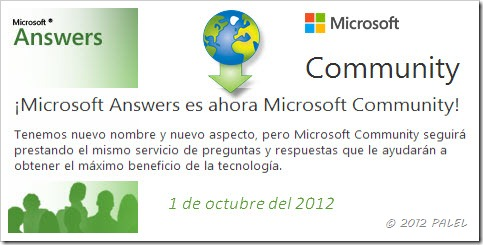 Artículo relacionado con las Comunidades Microsoft