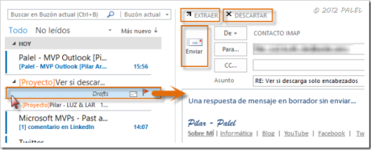 Bandeja de entrada - Outlook 2013 - Borradores III
